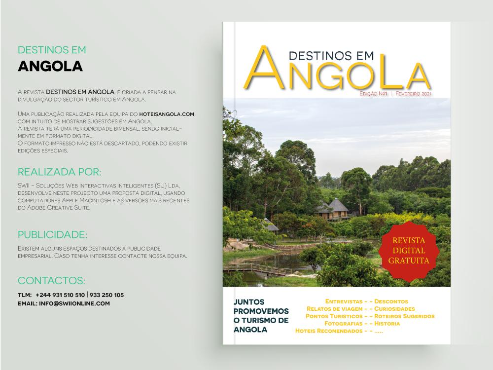 A revista DESTINOS EM ANGOLA